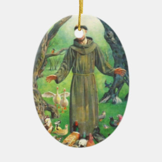 Saint Francis and prayer for pets Christmas Tree Ornaments