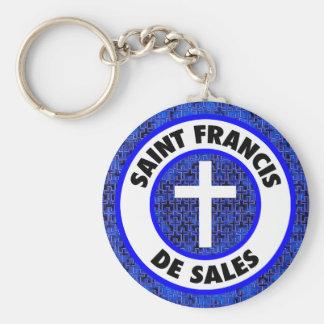 Saint Francis de Sales Basic Round Button Key Ring