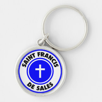 Saint Francis de Sales Silver-Colored Round Key Ring