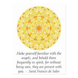 Saint Francis de Sales QUOTE about Angels Postcard