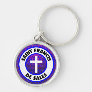 Saint Francis de Sales Silver-Colored Round Key Ring