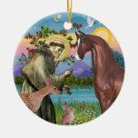 Saint Francis - Horse (chestnut)