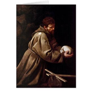 Saint Francis in Prayer - Caravaggio Card