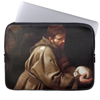 Saint Francis in Prayer - Caravaggio Laptop Sleeve