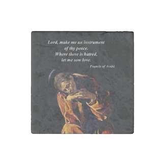 Saint Francis Instrument of Peace Stone Magnet
