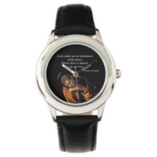 Saint Francis Instrument of Peace Watch