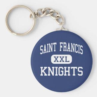 Saint Francis - Knights - High - Alpharetta Basic Round Button Key Ring