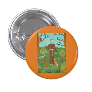 Saint Francis of Assisi Button