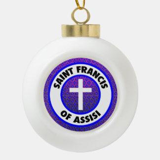 Saint Francis of Assisi Ceramic Ball Decoration
