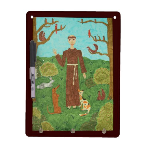 Saint Francis of Assisi Dry Erase Boards
