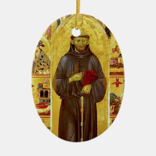 Saint Francis of Assisi Mediaeval Iconography Ceramic Ornament