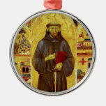 Saint Francis of Assisi Mediaeval Iconography Silver-Colored Round Decoration