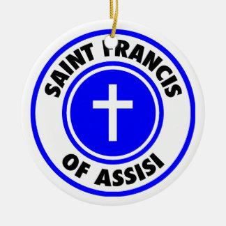 Saint Francis of Assisi Round Ceramic Decoration