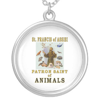 SAINT FRANCIS of ASSISI Silver Plated Necklace