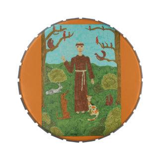 Saint Francis of Assisi Candy Tin