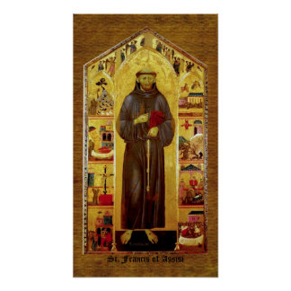 Saint Francis of Assissi Medieval Iconography Posters