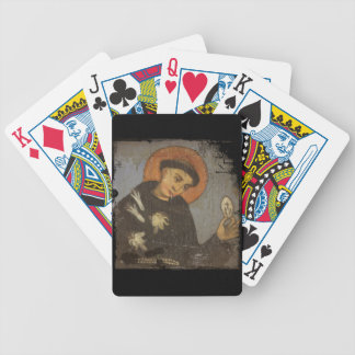 Saint Francis with White Lilies Poker Deck