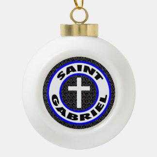 Saint Gabriel Ceramic Ball Decoration