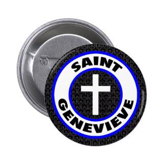 Saint Genevieve 6 Cm Round Badge