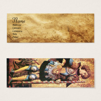 SAINT GEORGE AND DRAGON,parchment Mini Business Card