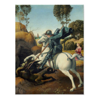 Saint George and the Dragon (Raphael) Poster