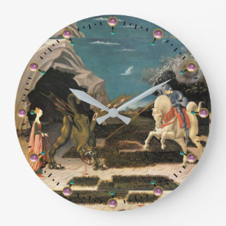 SAINT GEORGE, DRAGON AND PRINCESS LARGE CLOCK