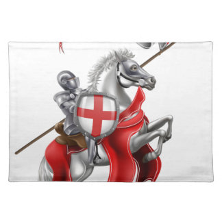Saint George Medieval Knight on Horse Placemat