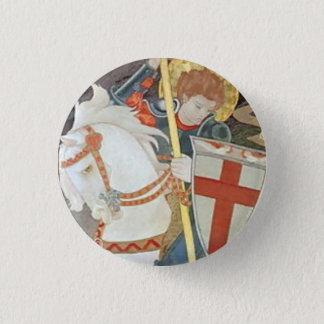 Saint George Slaying the Dragon 3 Cm Round Badge