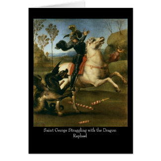Saint George Struggling with the Dragon Greeting C Card