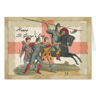 Saint George's Day card, St. George, Knight Card