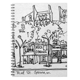 Saint-Germain-des-Pres | Paris, France Notebook