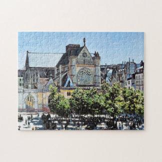 Saint Germain l'Auxerrois Claude Monet Jigsaw Puzzle