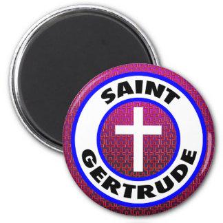 Saint Gertrude 6 Cm Round Magnet