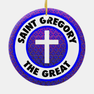 Saint Gregory the Great Ceramic Ornament