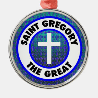 Saint Gregory the Great Metal Ornament