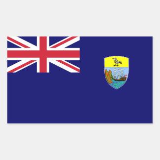 Saint Helena Flag. Britain, British Overseas Rectangular Sticker
