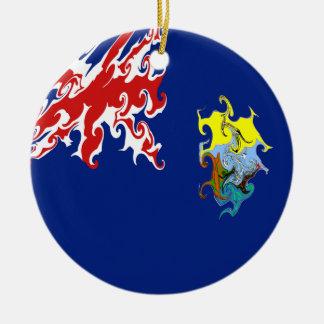 Saint Helena Gnarly Flag Christmas Ornaments