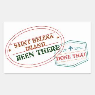 Saint Helena Island Been There Done That Rectangular Sticker