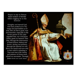 Saint Isidore of Seville Postcard