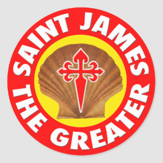 Saint James the Greater Classic Round Sticker