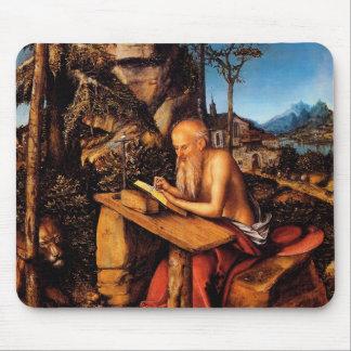 Saint Jerome by Lucas Cranach the Elder Mouse Pads