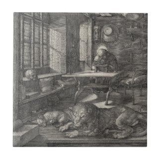 Saint Jerome in His Study by Albrecht Durer Ceramic Tile
