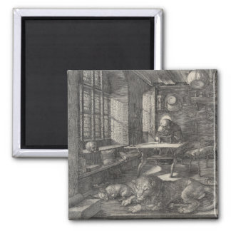 Saint Jerome in His Study by Albrecht Durer Refrigerator Magnets