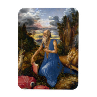Saint Jerome in the Wilderness by Durer Rectangular Magnets