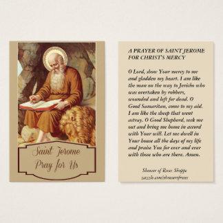 Saint Jerome Scripture Pen Monk Business Card