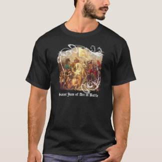 Saint Joan of Arc in Battle Men's Dark T-Shirt