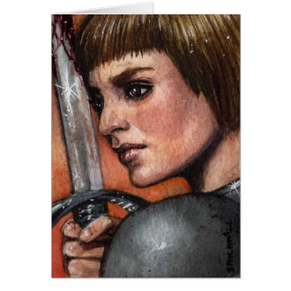 Saint Joan of Arc Note Card