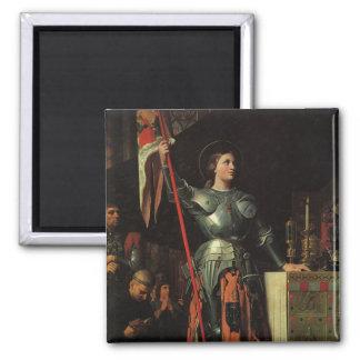 Saint Joan of Arc Square Magnet