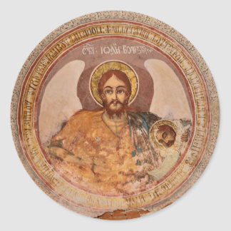 saint john baptist religion orthodox church icon classic round sticker