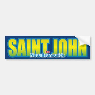 Saint John Bumper Bumper Stickers